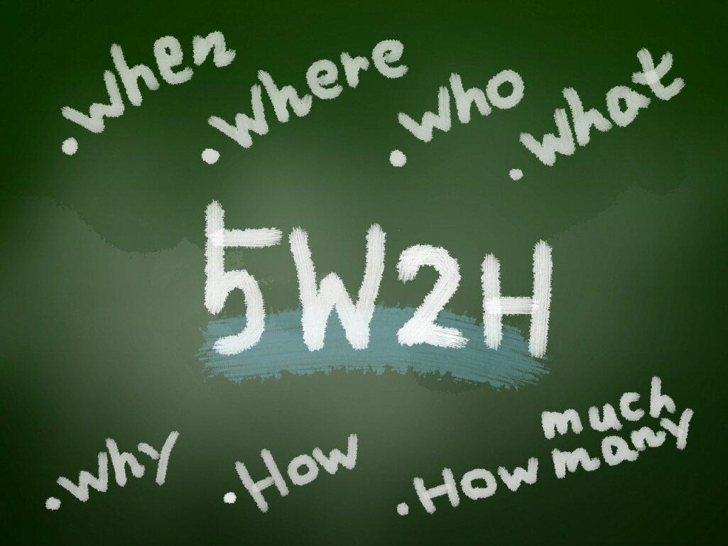 5W2H:5W1HにHow Muchの要素を1つ加えたフレームワーク