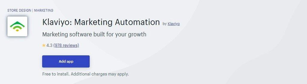 メールマーケティングアプリ Klaviyo