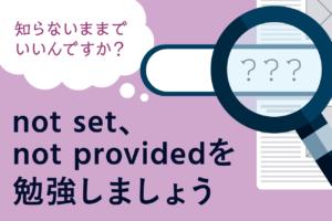 Googleアナリティクスの(not set)、(not provided)とは?データの中身を見る方法はある?