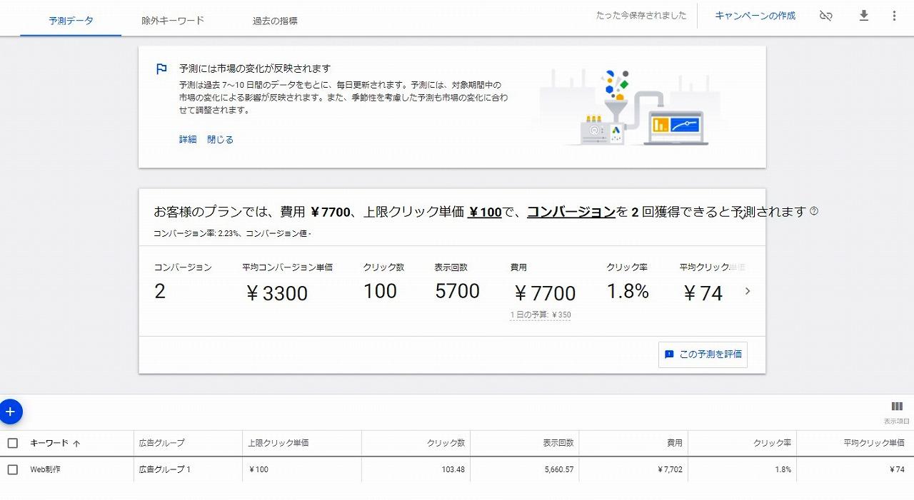 検索ボリュームを調べる「検索ボリュームと検索の予測を取得」機能について