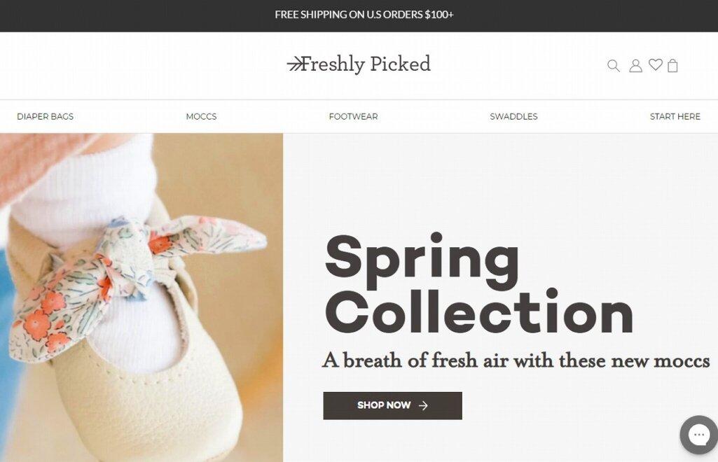 ShopifyでのECサイト成功例4:Freshly Picked