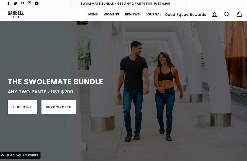 Shopify導入の成功事例6:Barbell Apparel