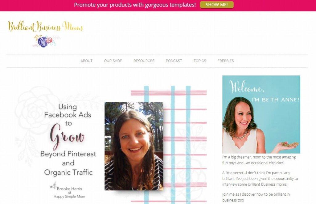Shopify導入の成功事例7:Brilliant Business Moms