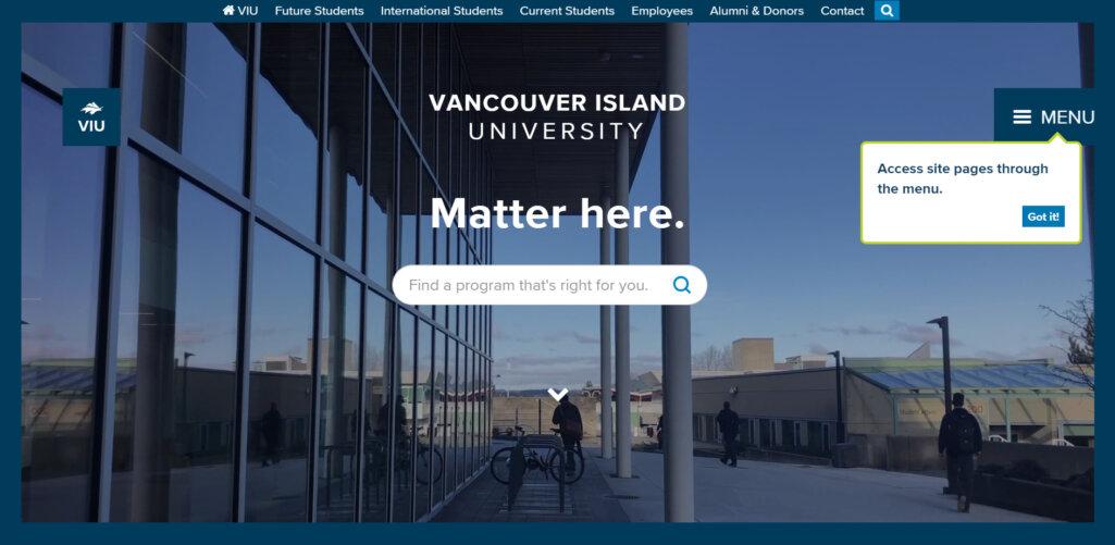 Vancouver Island University(バンクーバーアイランド大学)の事例