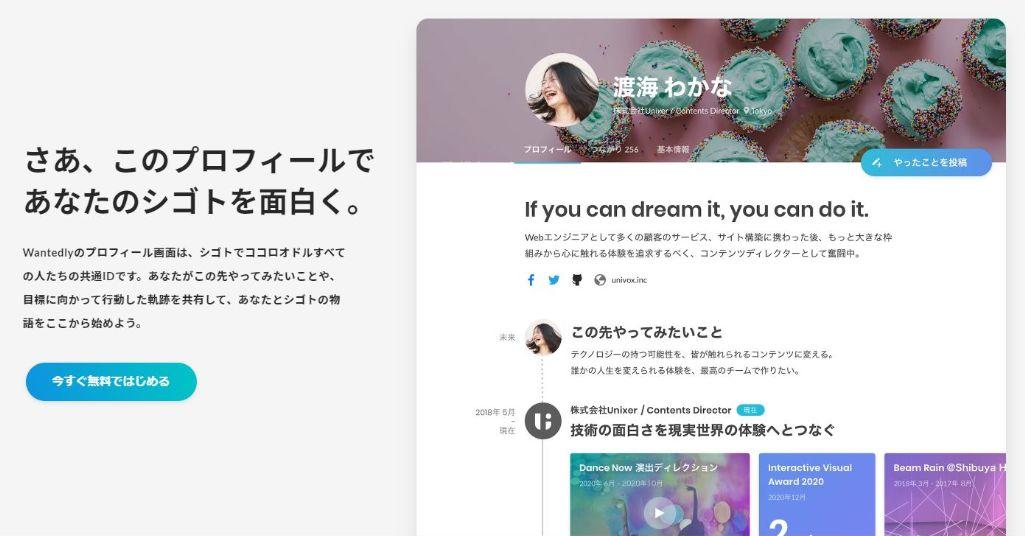 SNS別コンテンツマーケティング手法:Wantedly